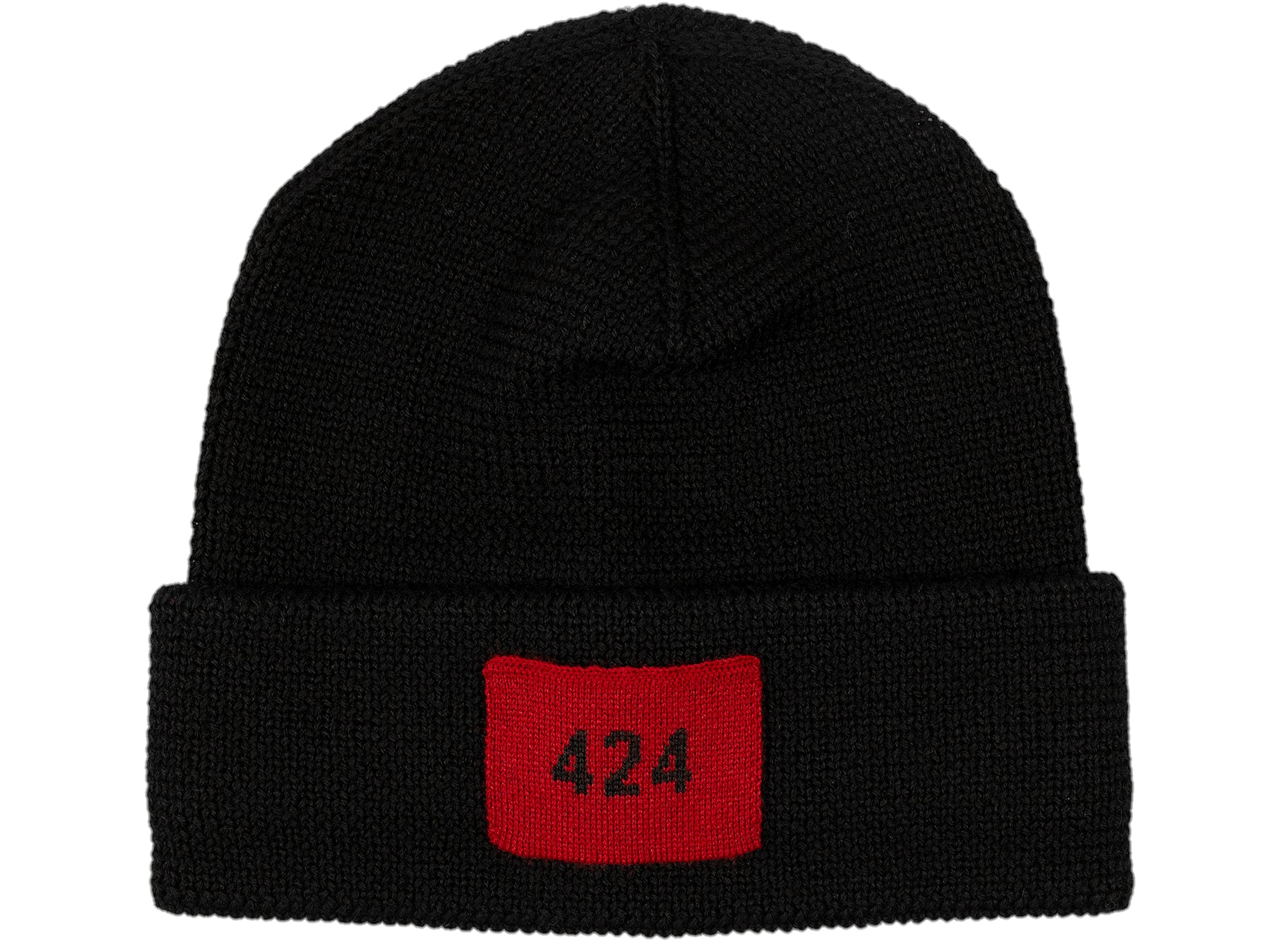 424 Ribbed Hat in Black