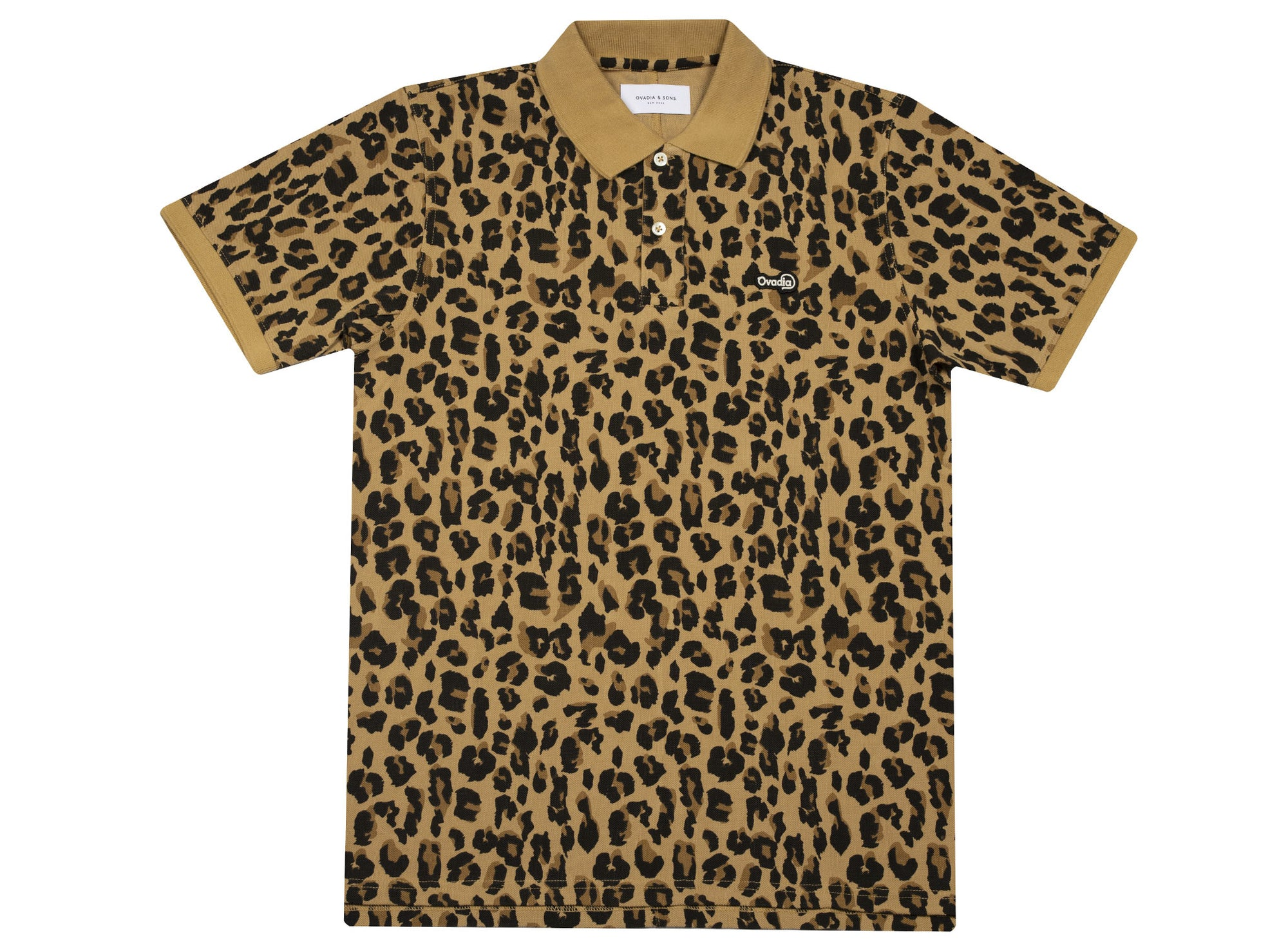 OVADIA & SONS LEOPARD SUMMER POLO