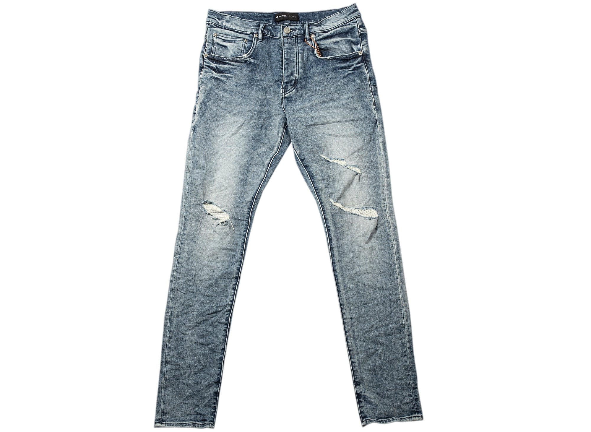 Purple Brand Faded Blue Distressed Jeans