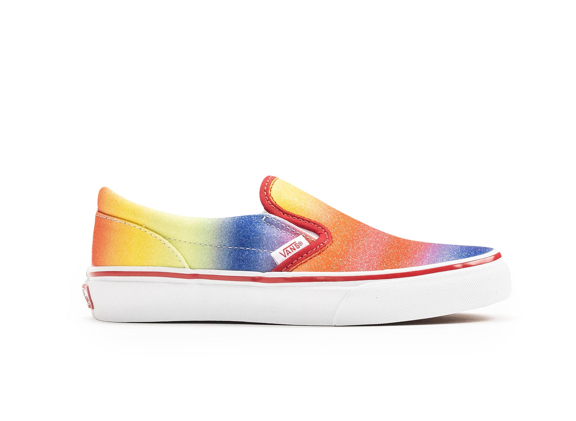 Vans Kids Rainbow Glitter Classic Slip-On