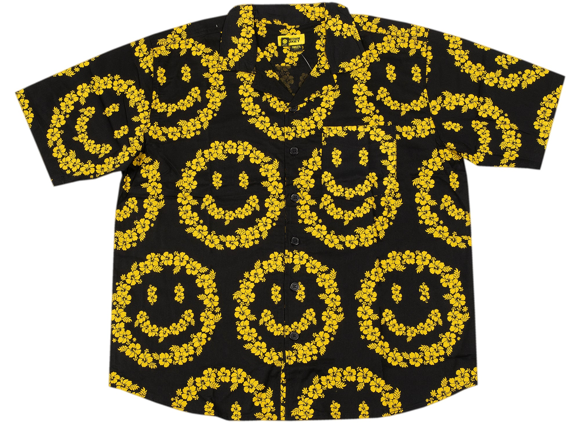 Chinatown Market Smiley Floral Shirt xld