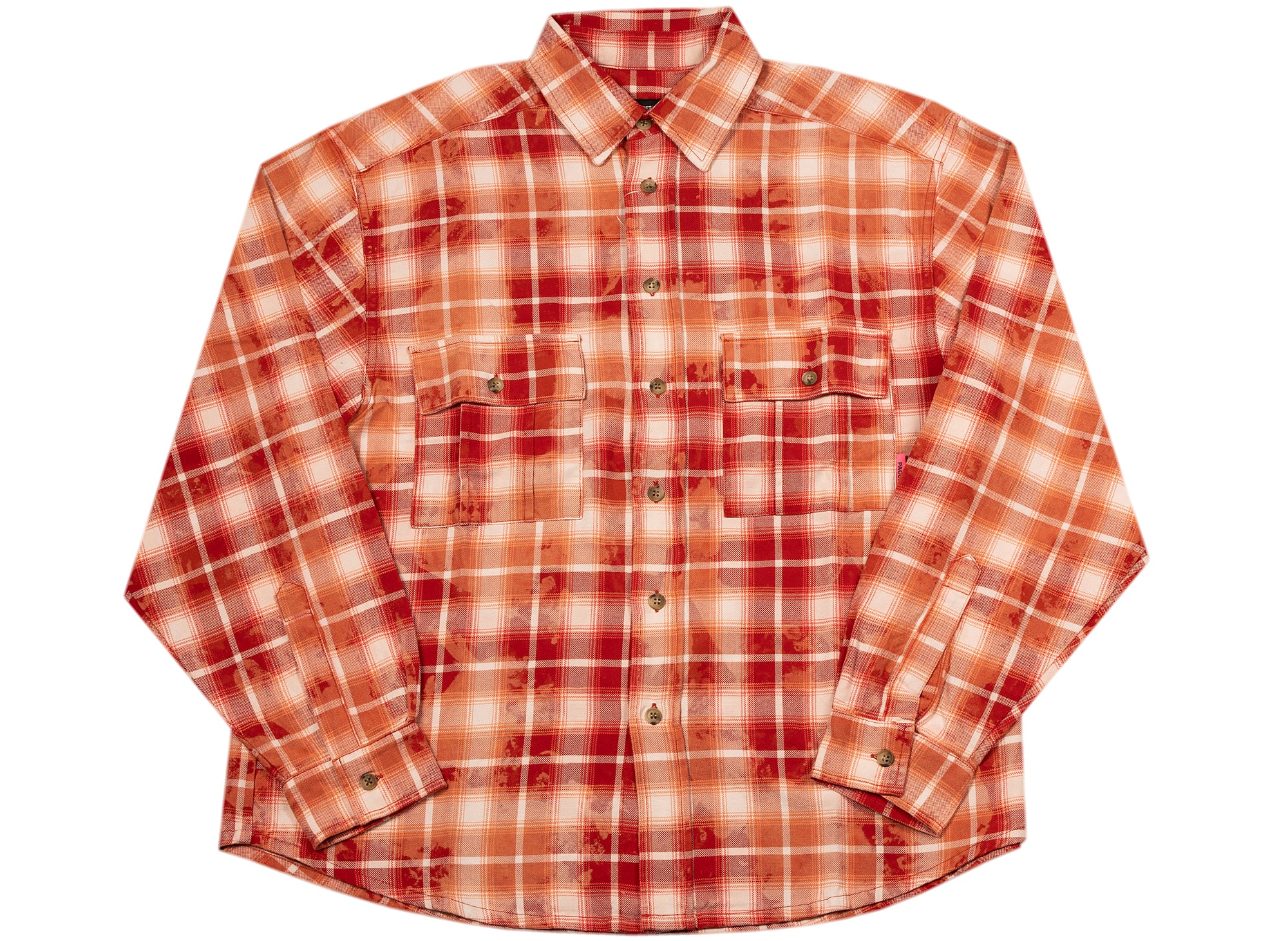 Rassvet (PACCBET) Bleached Check Shirt in Red
