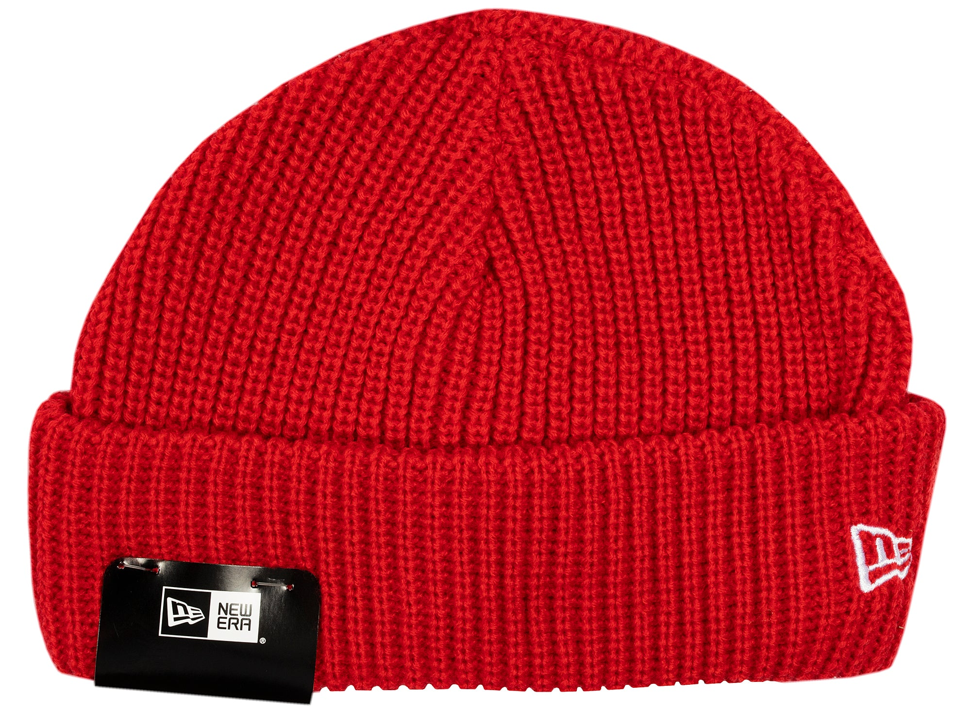 New Era Knit Skully Cap in Red