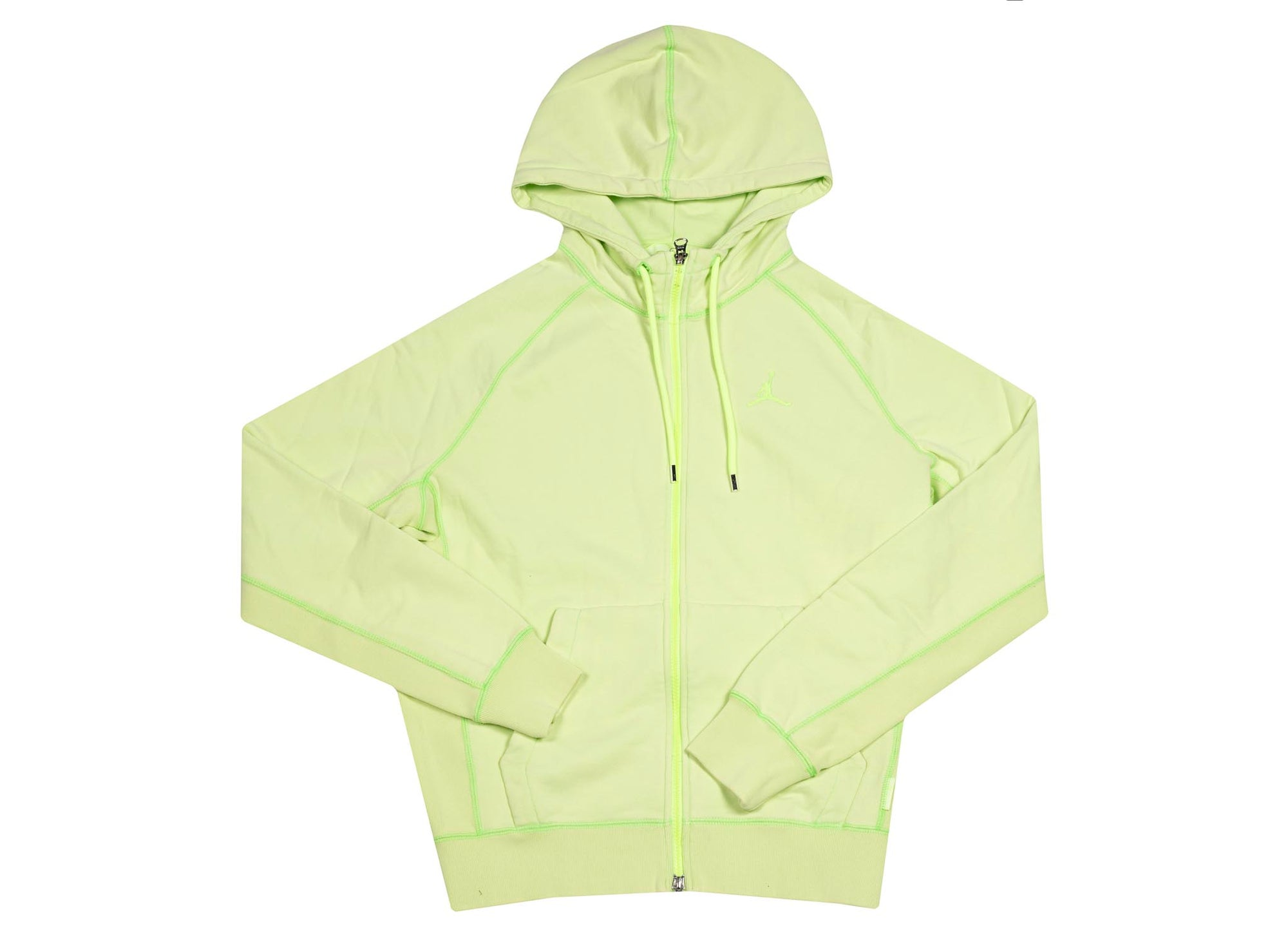 M J WINGS WASH FLC FULL ZIP  GHOST GREEN