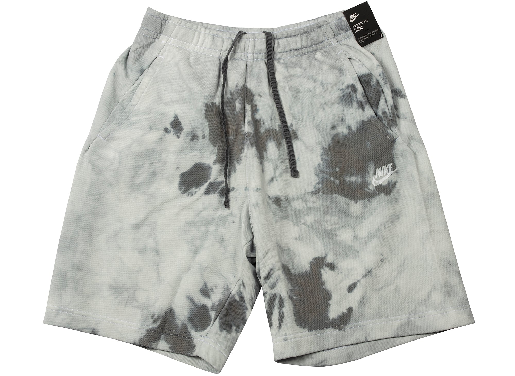 Nike Sportswear FT Dye Shorts in Grey xld