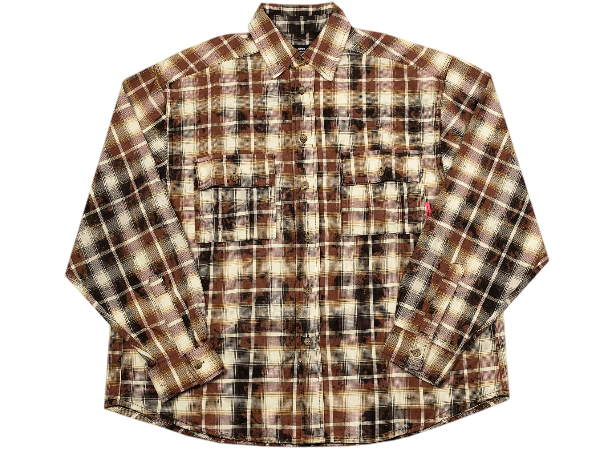 Rassvet (PACCBET) Bleached Check Shirt in Brown
