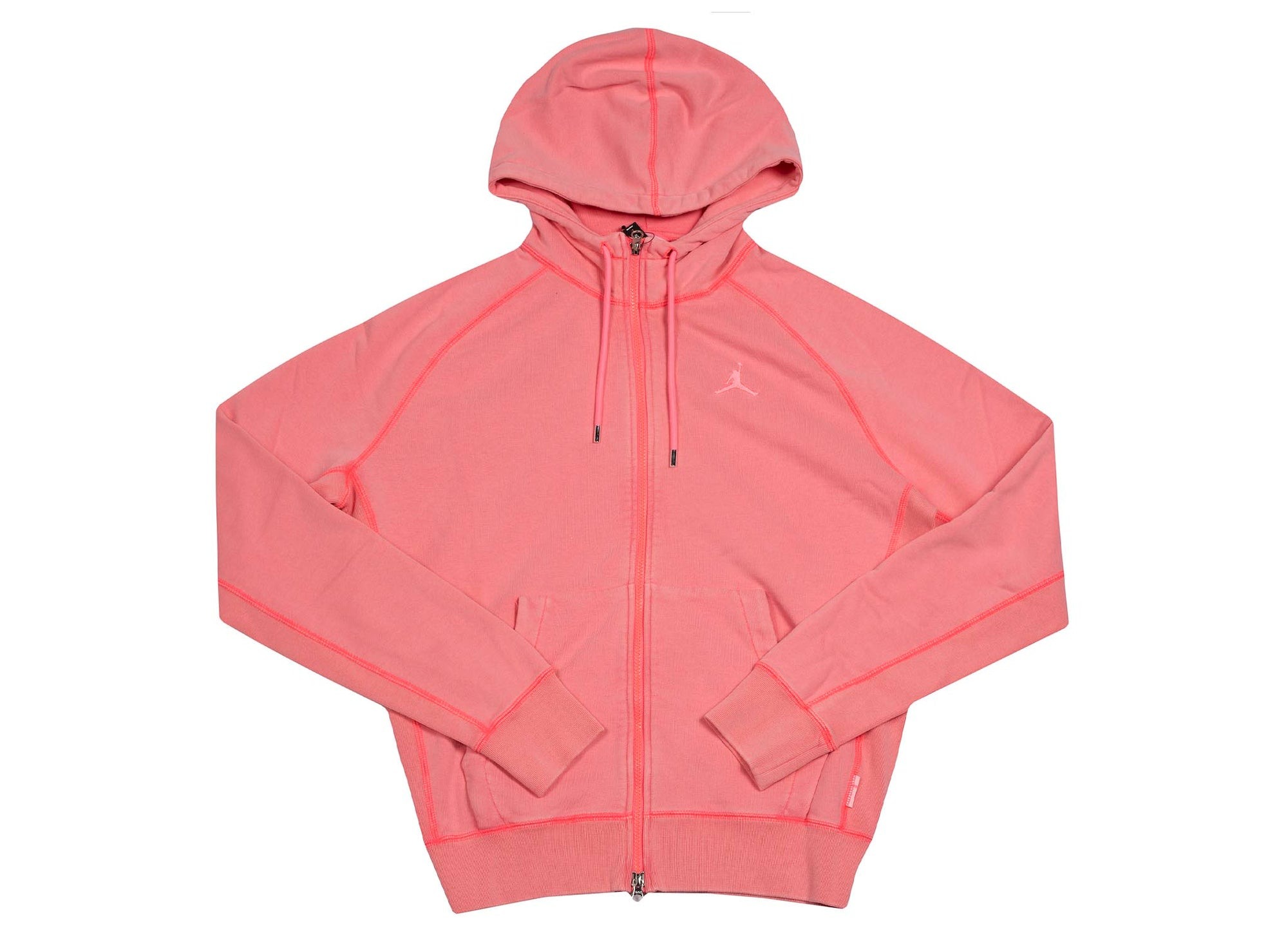 M J WINGS WASH FLC FULL ZIP DIGITAL PINK