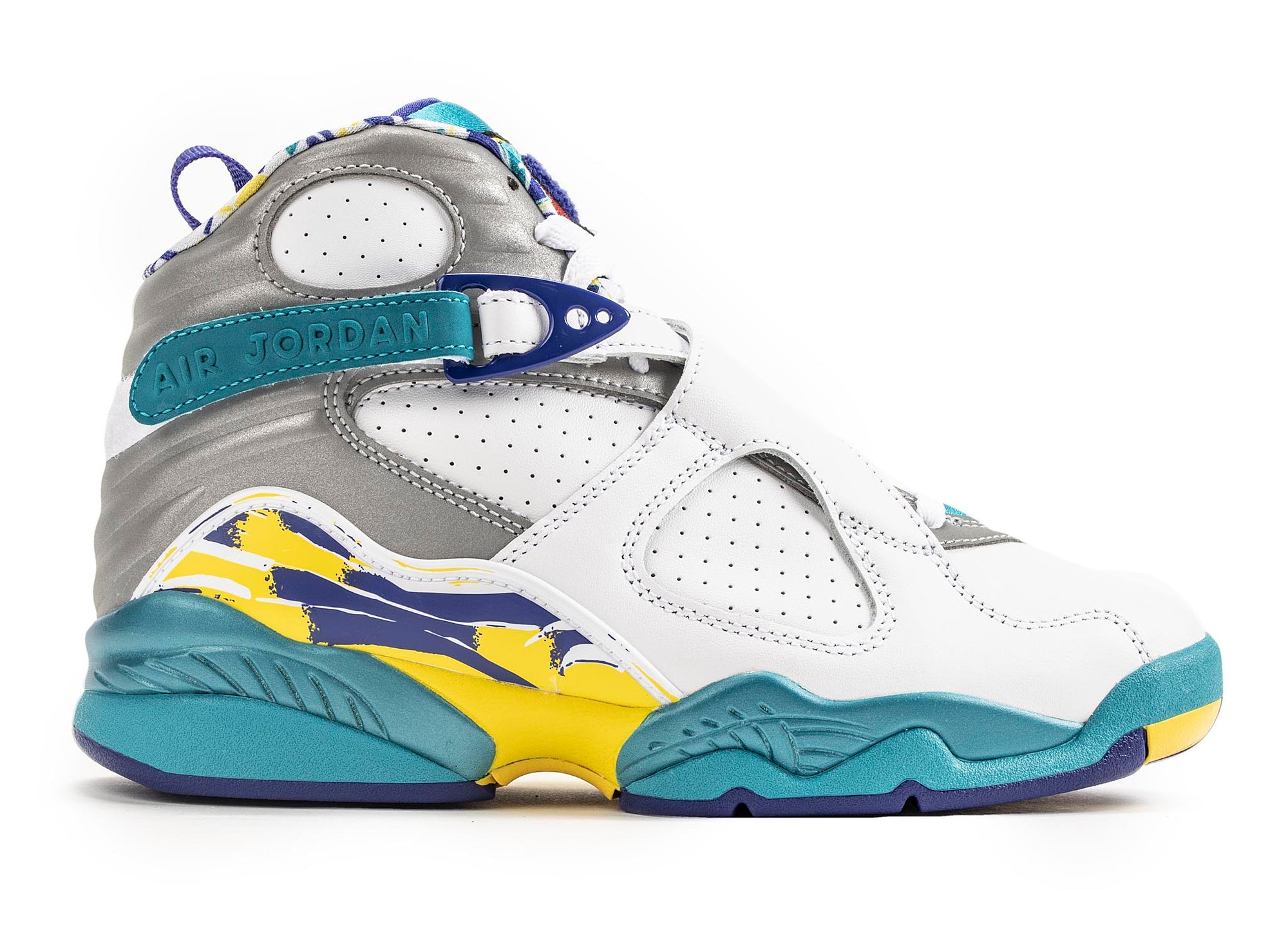 nouveau style c05e0 0e0d3 Women's Air Jordan 8 Retro 'White Aqua' - Oneness Boutique