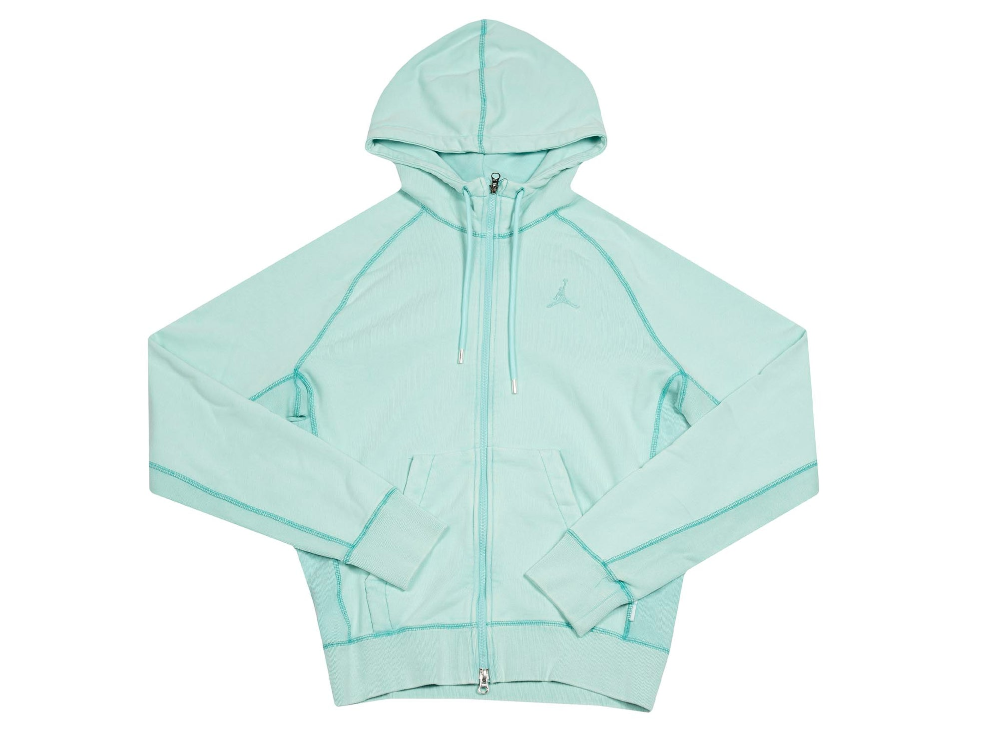 M J WINGS WASH FLC FULL ZIP LIGHT AQUA
