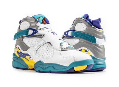 Women's Air Jordan 8 Retro 'White Aqua'