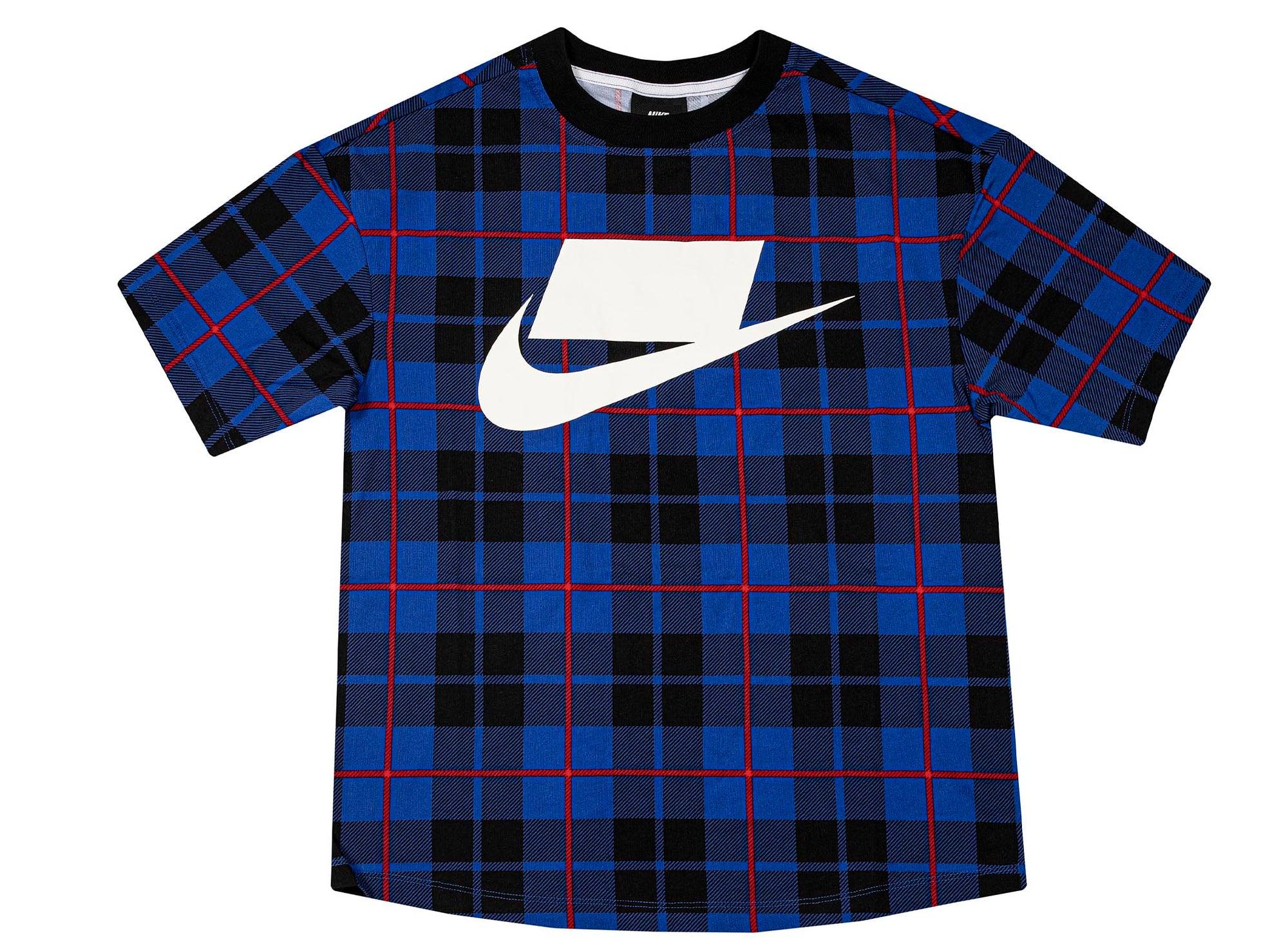Nike Sportswear Women's Short-Sleeve Printed Top 'Blue Plaid'