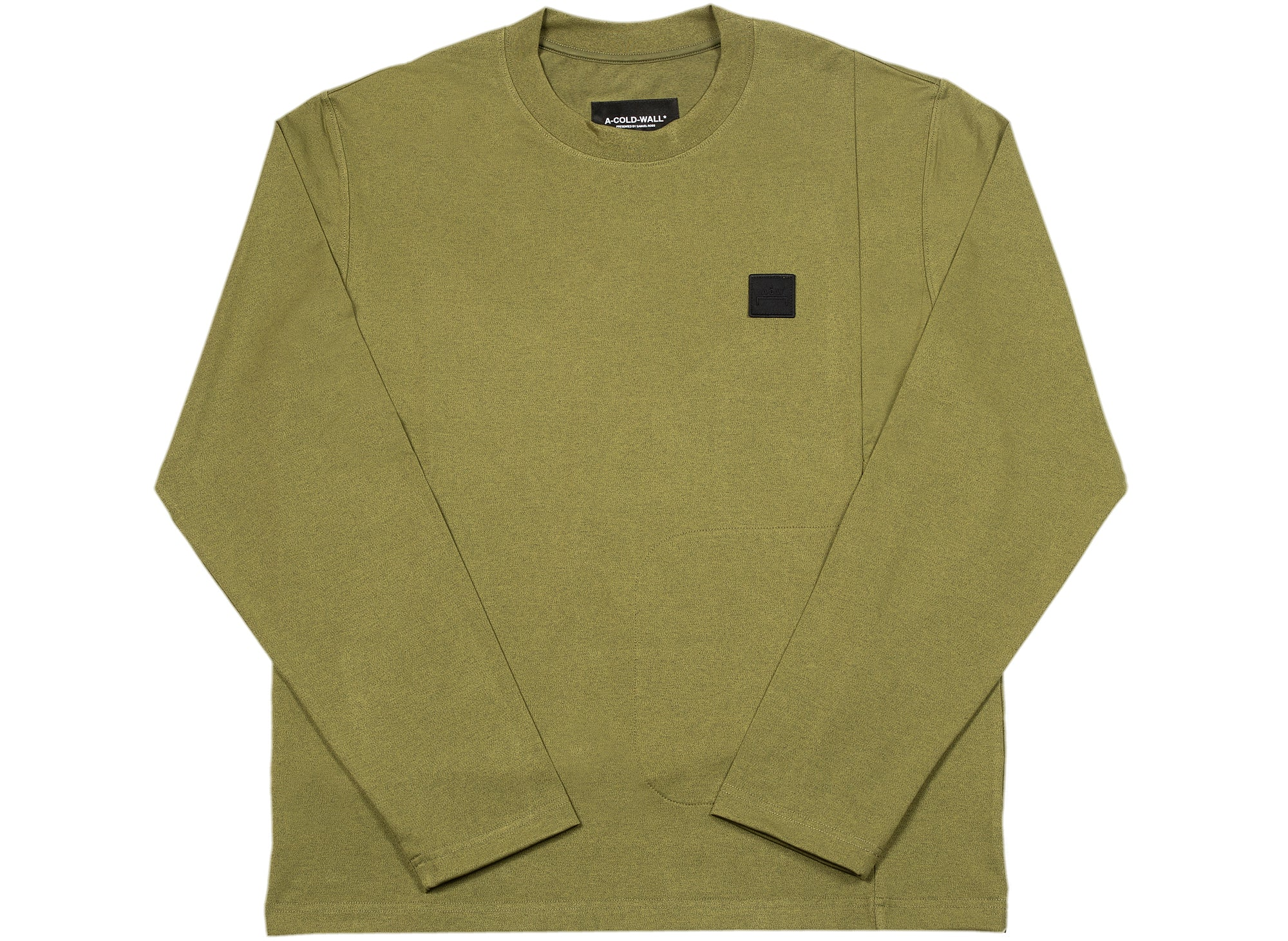 A-COLD-WALL* Knitted Utility Long Sleeve T-Shirt in Military Green xld