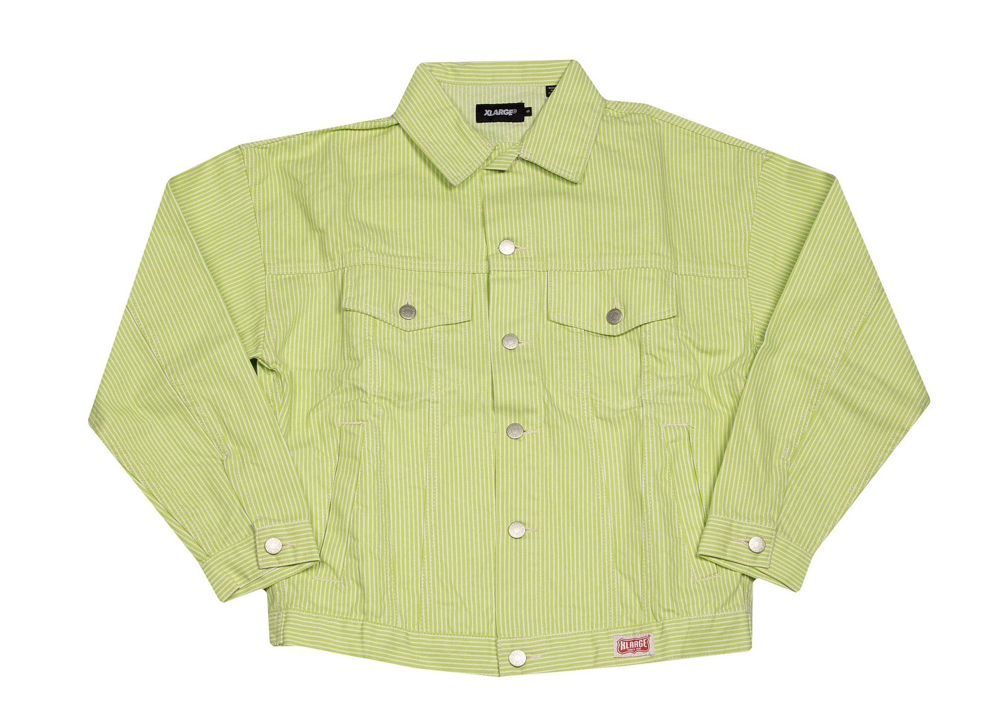 X-LARGE DENIM TRUCKER JACKET GREEN