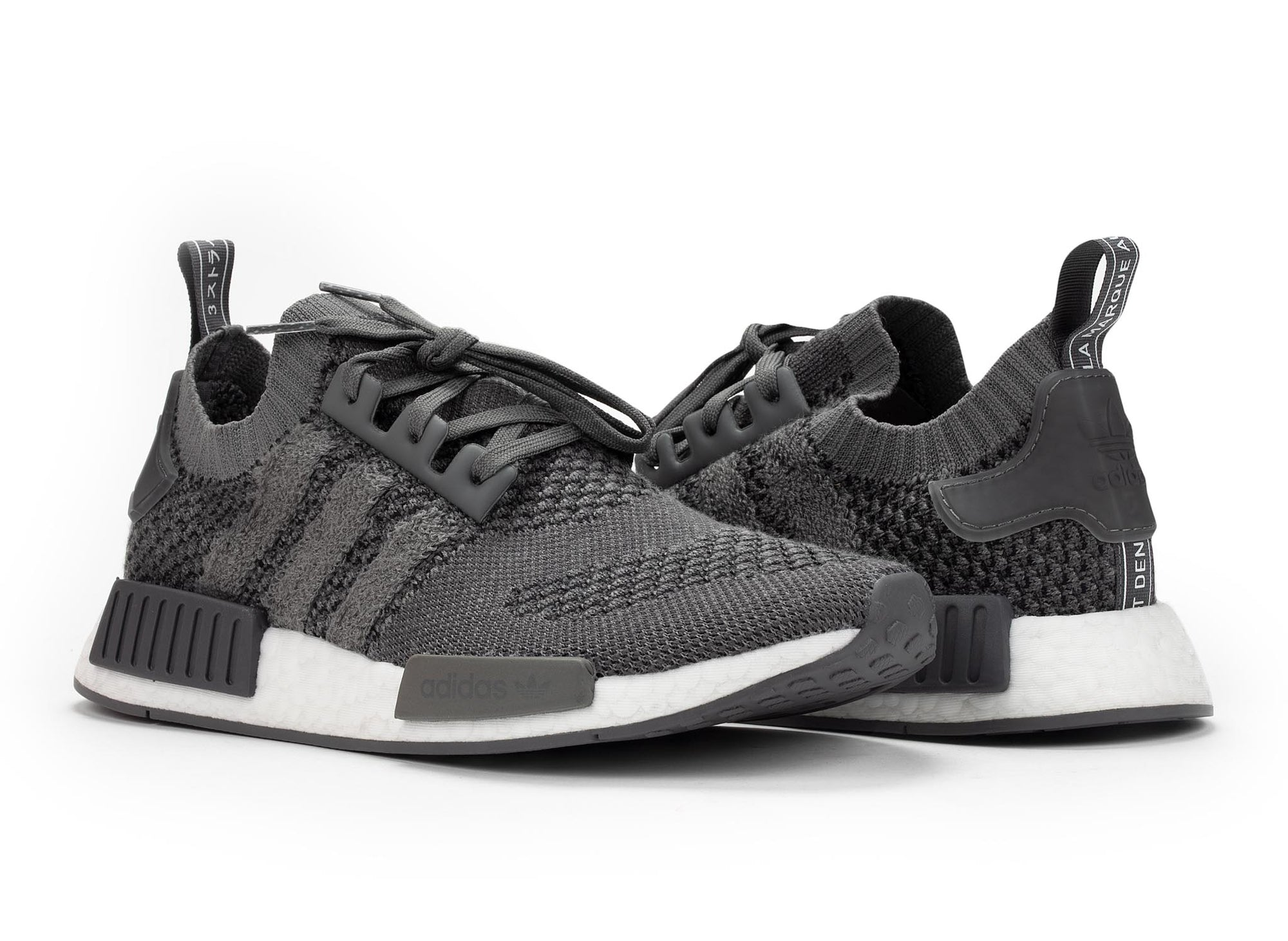 best website a594a a240a adidas NMD R1 Primeknit 'Ash Grey'