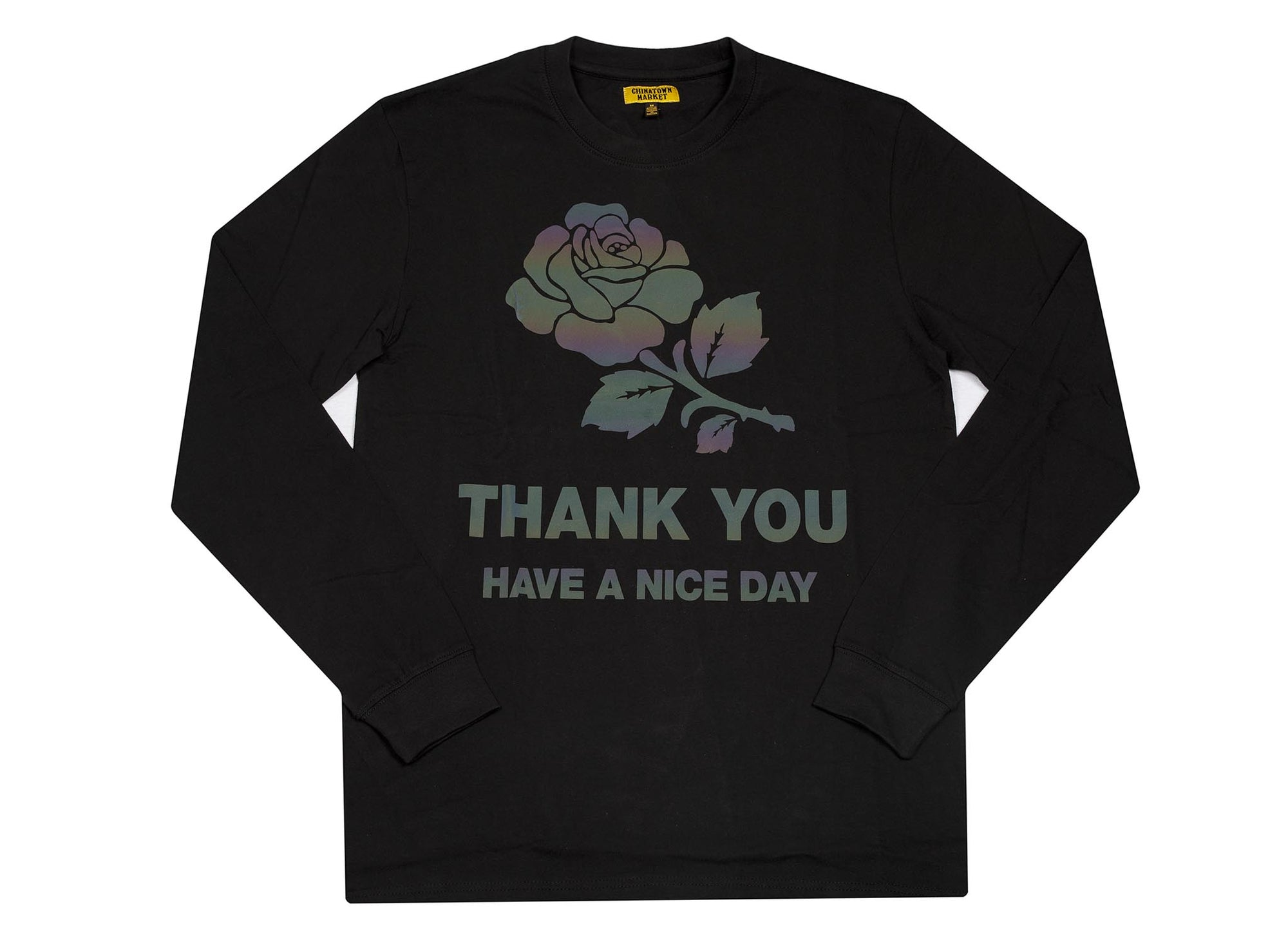 CHINATOWN MARKET Thank you Iridescent LONGSLEEVE  TEE