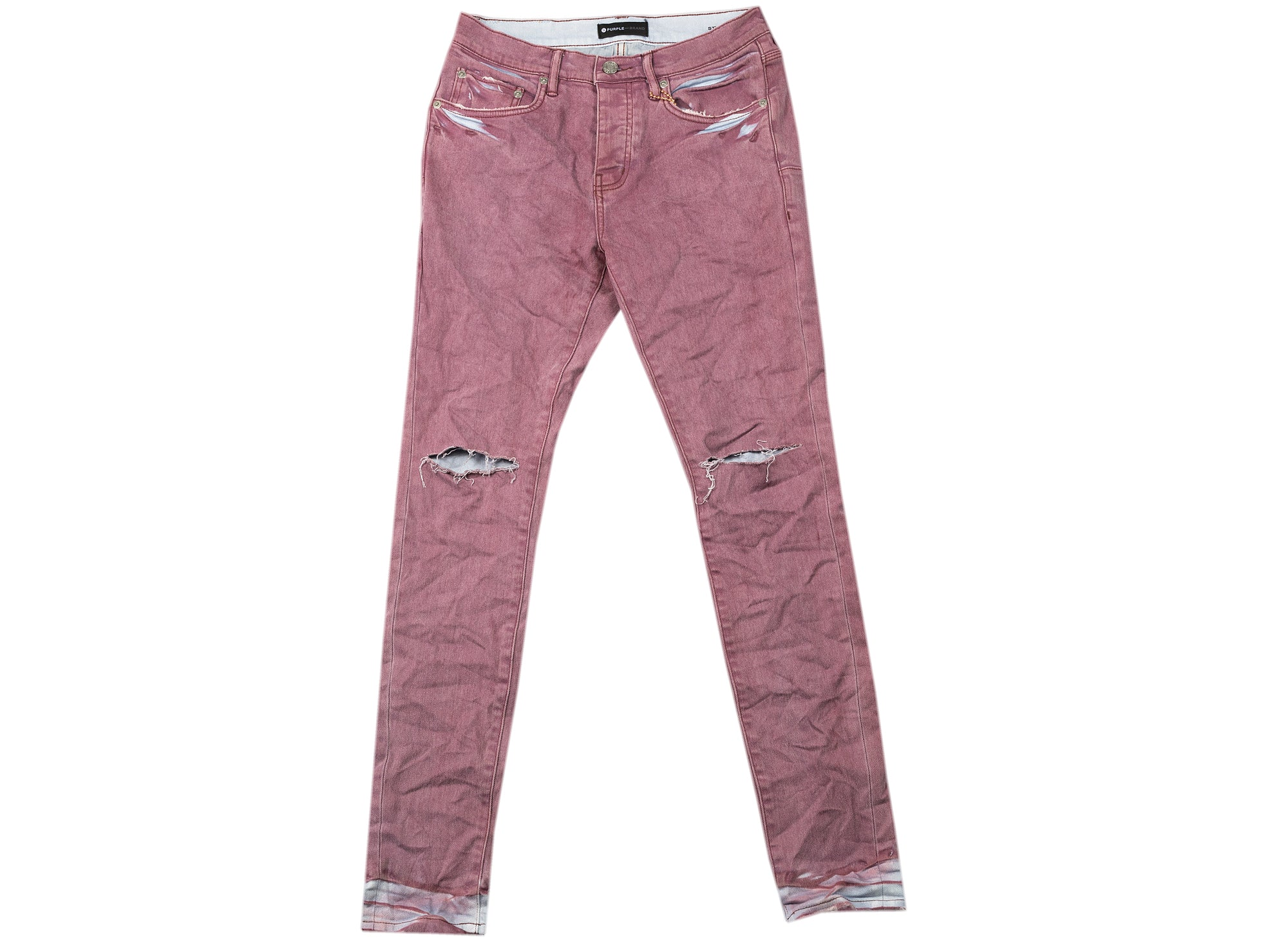 Purple Brand Coral Light Spray Jeans xld