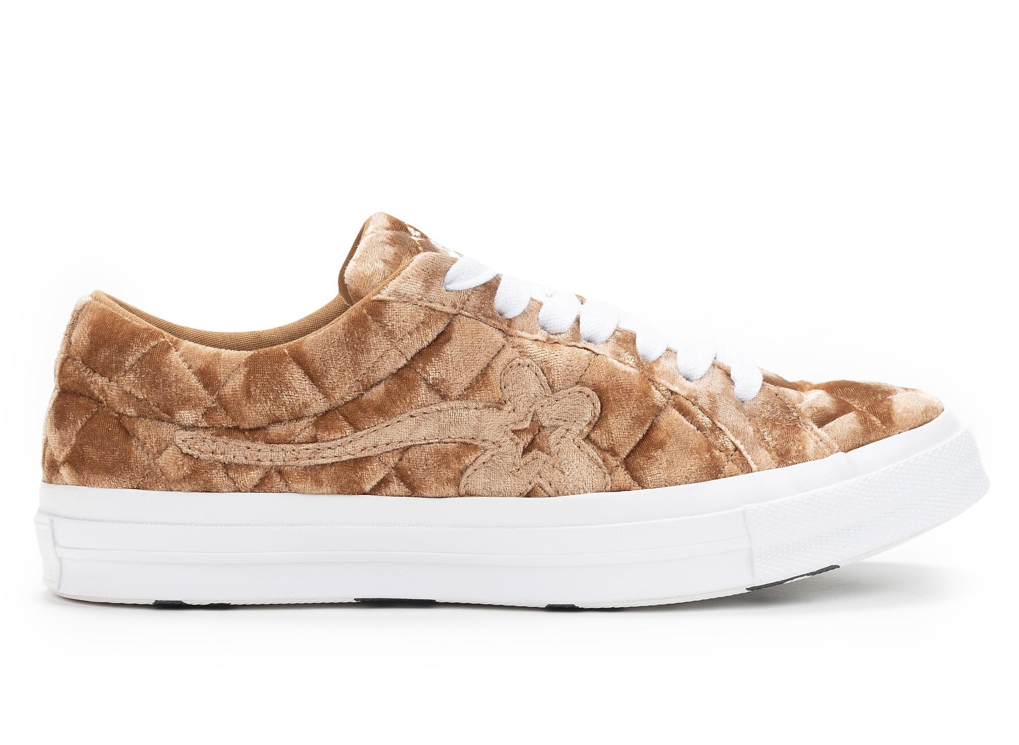 Converse One Star Ox Golf Le Fleur TTC Quilted Velvet 'Brown Sugar'