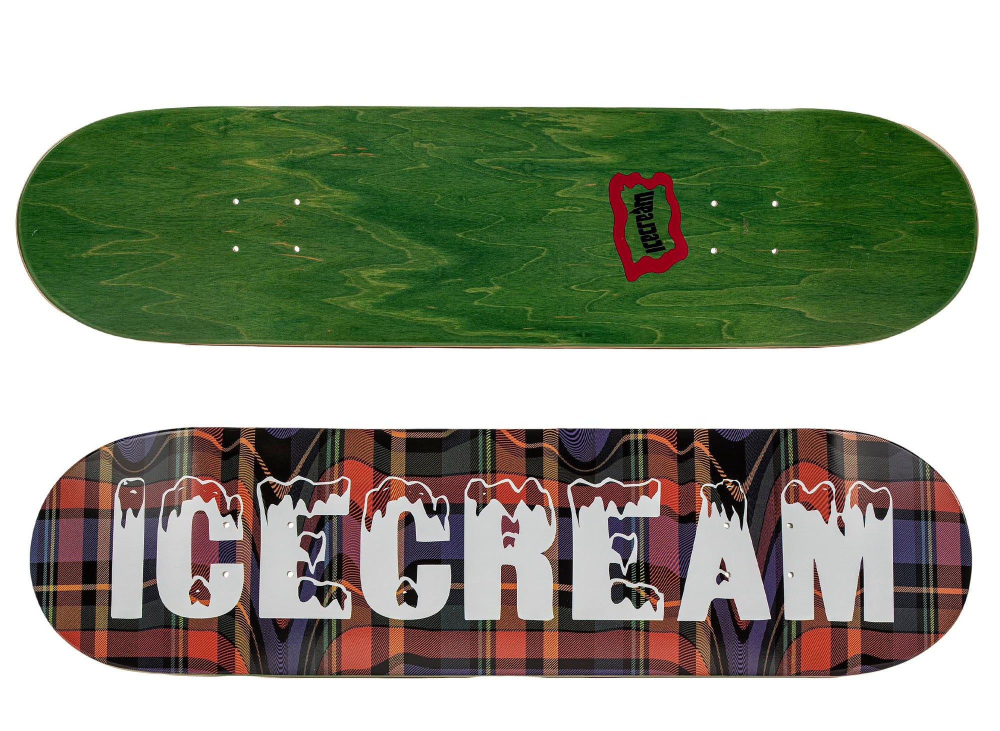 ICE CREAM Plaid Skate Deck 'Multi'