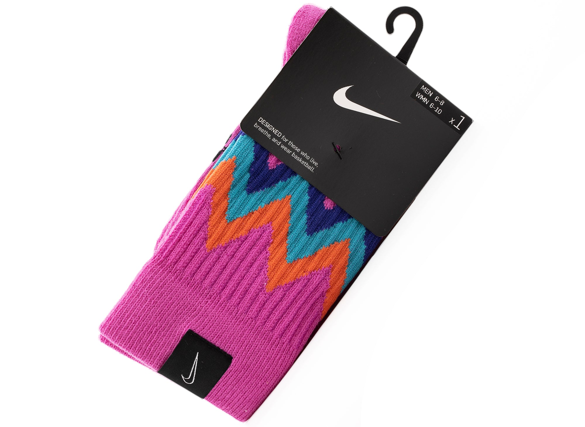 Nike SNKR Crew City Sox in Pink