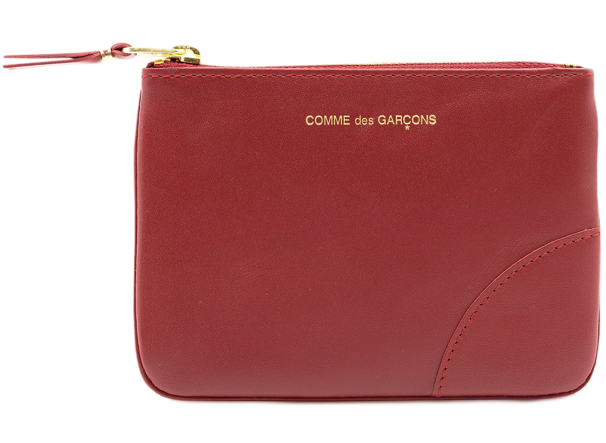 Comme des Garçon Classic Leather Line Wallet in Red