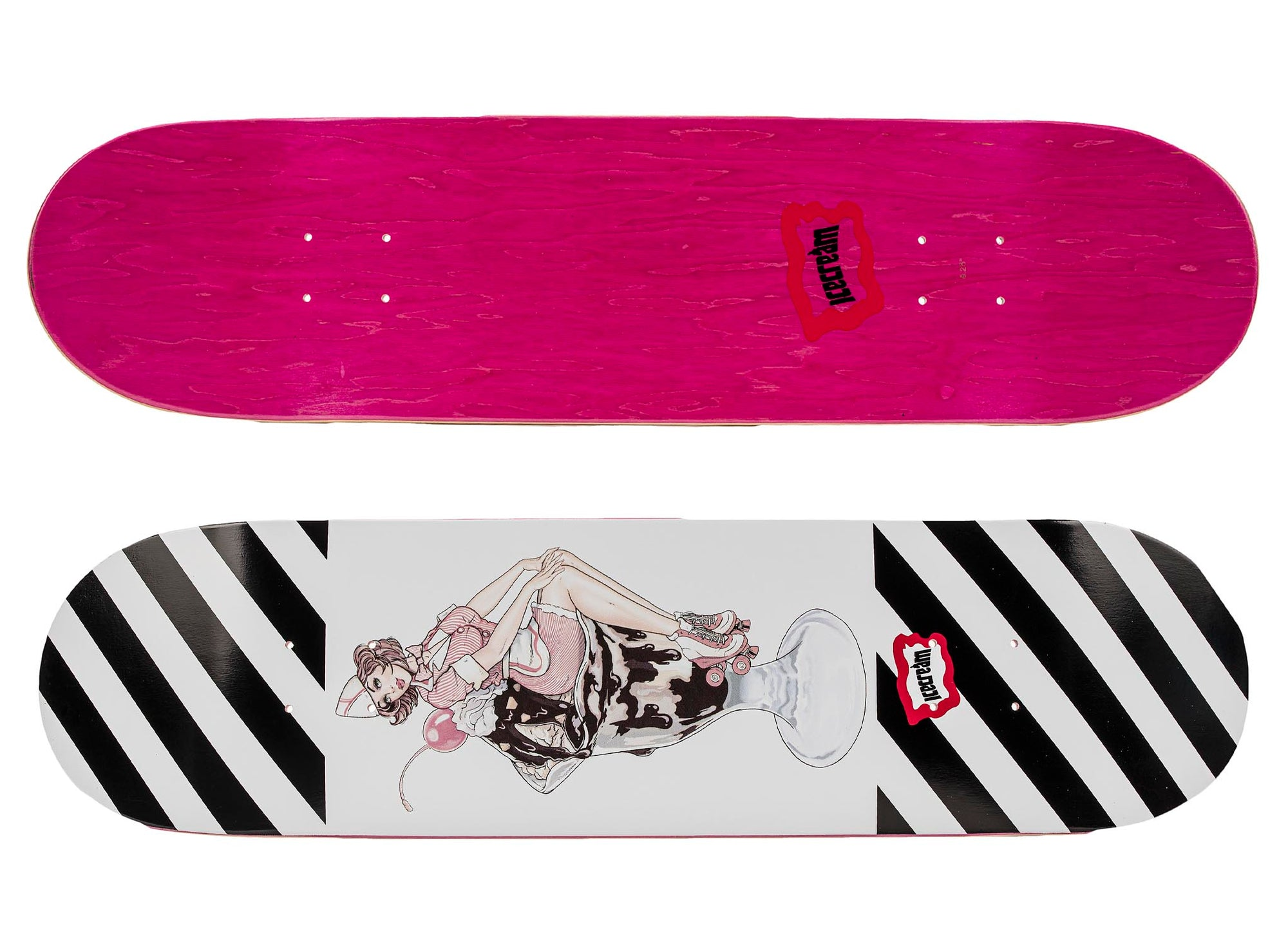 ICE CREAM Chocolate Skate Deck 'Pink'