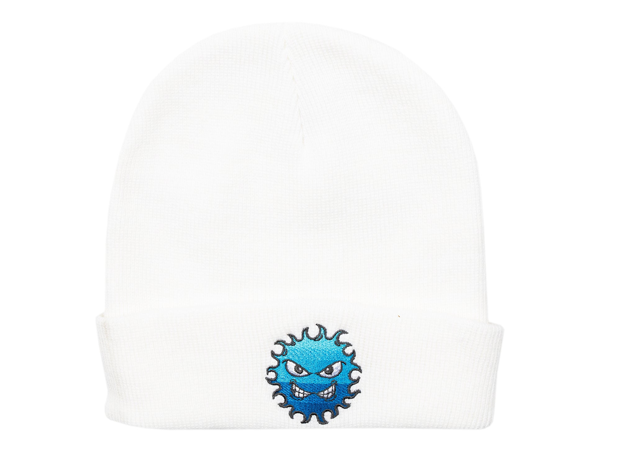 Rassvet (PACCBET) Knit Logo Beanie w/ Embroidery in White