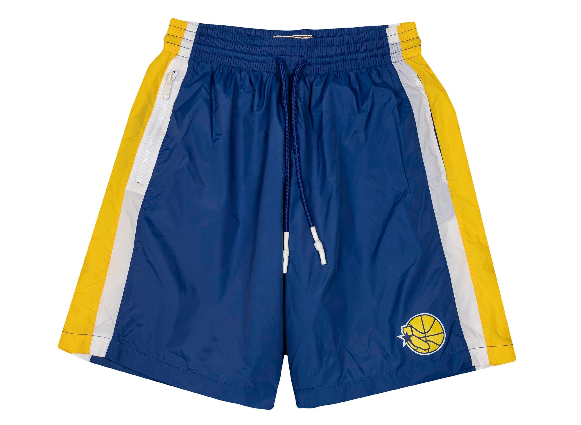 Mitchell & Ness Packable Nylon Shorts 'Golden State Warriors'