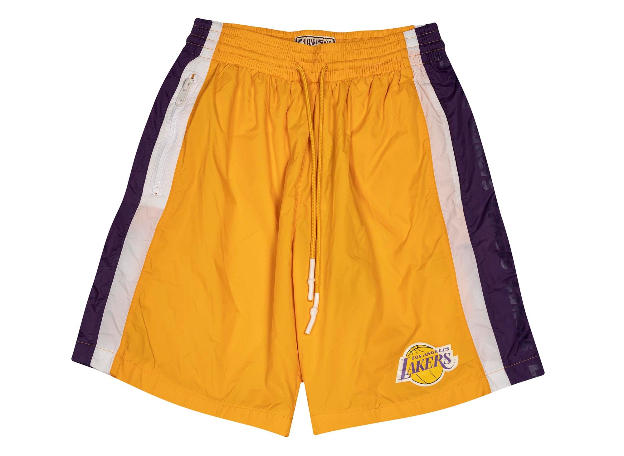 Mitchell & Ness Packable Nylon Shorts 'Los Angeles Lakers'