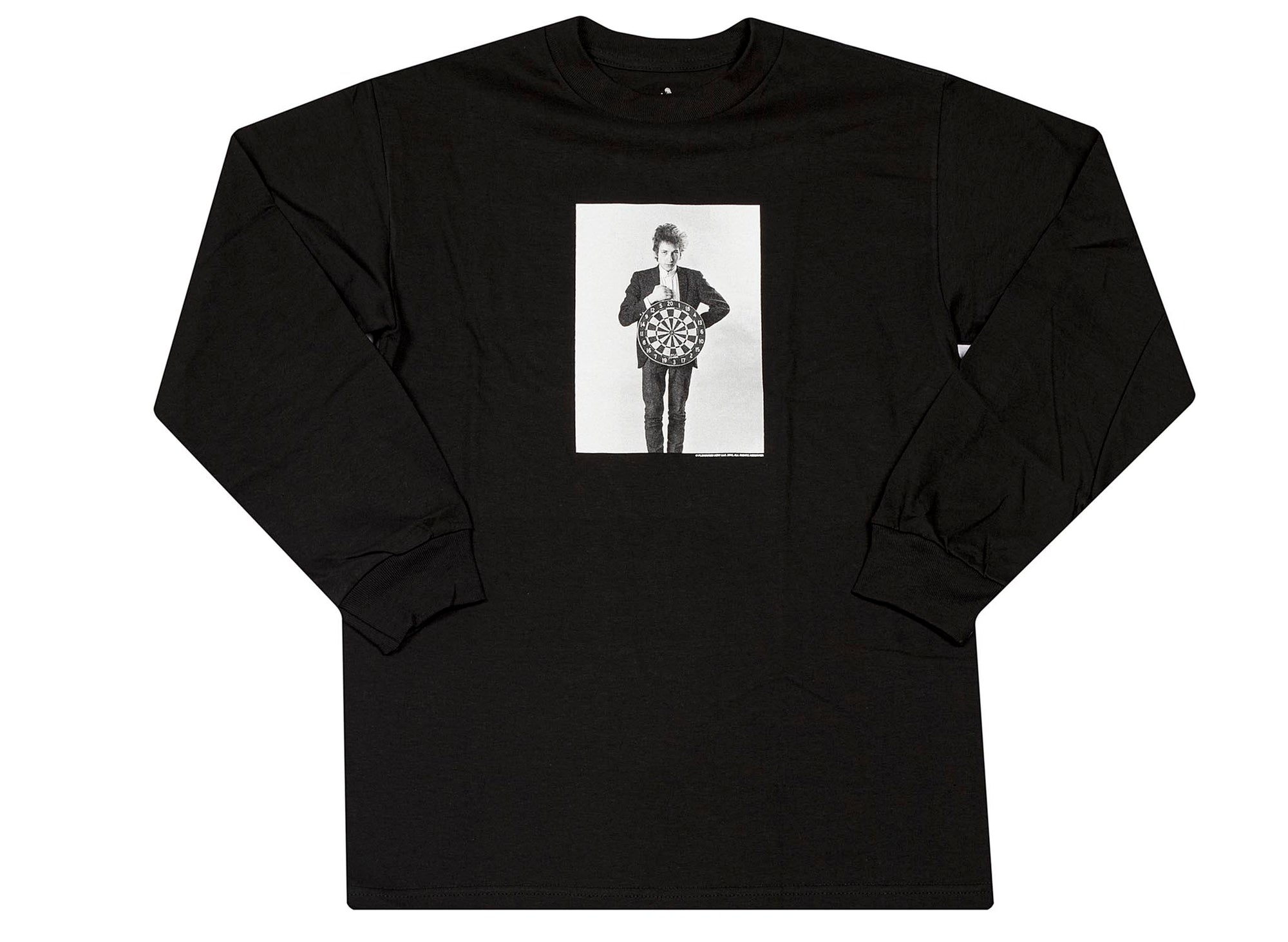 Pleasures Bob Dylan Darts Long Sleeve T-Shirt 'Black'