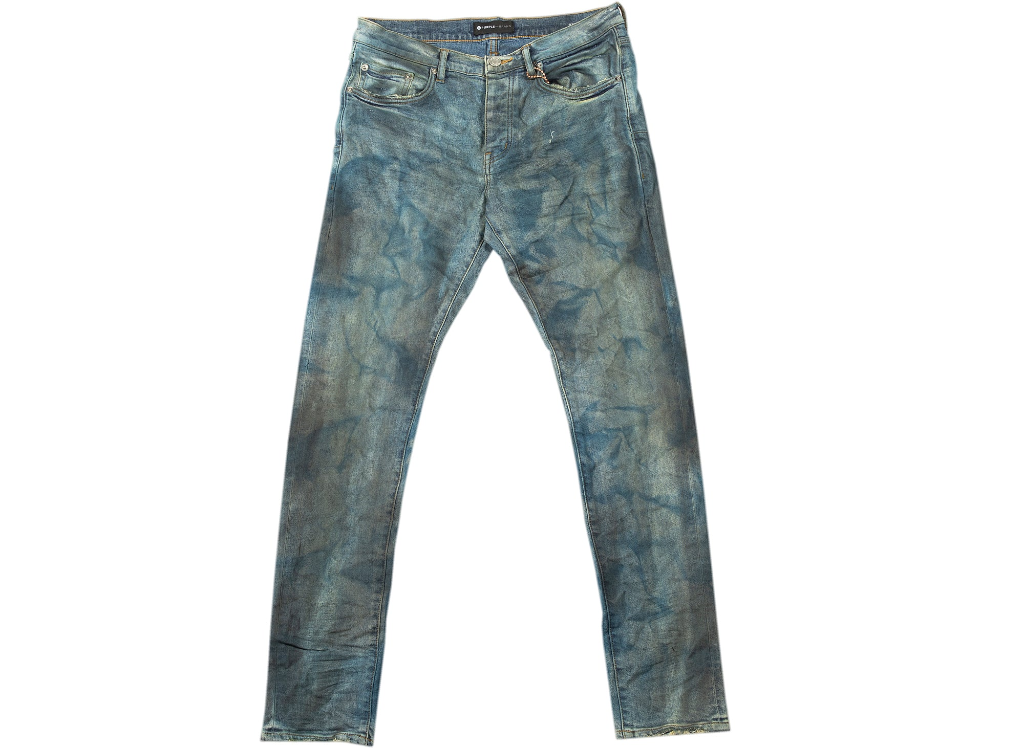 Purple Brand French Blue Indigo Dirty Resin Jeans xld