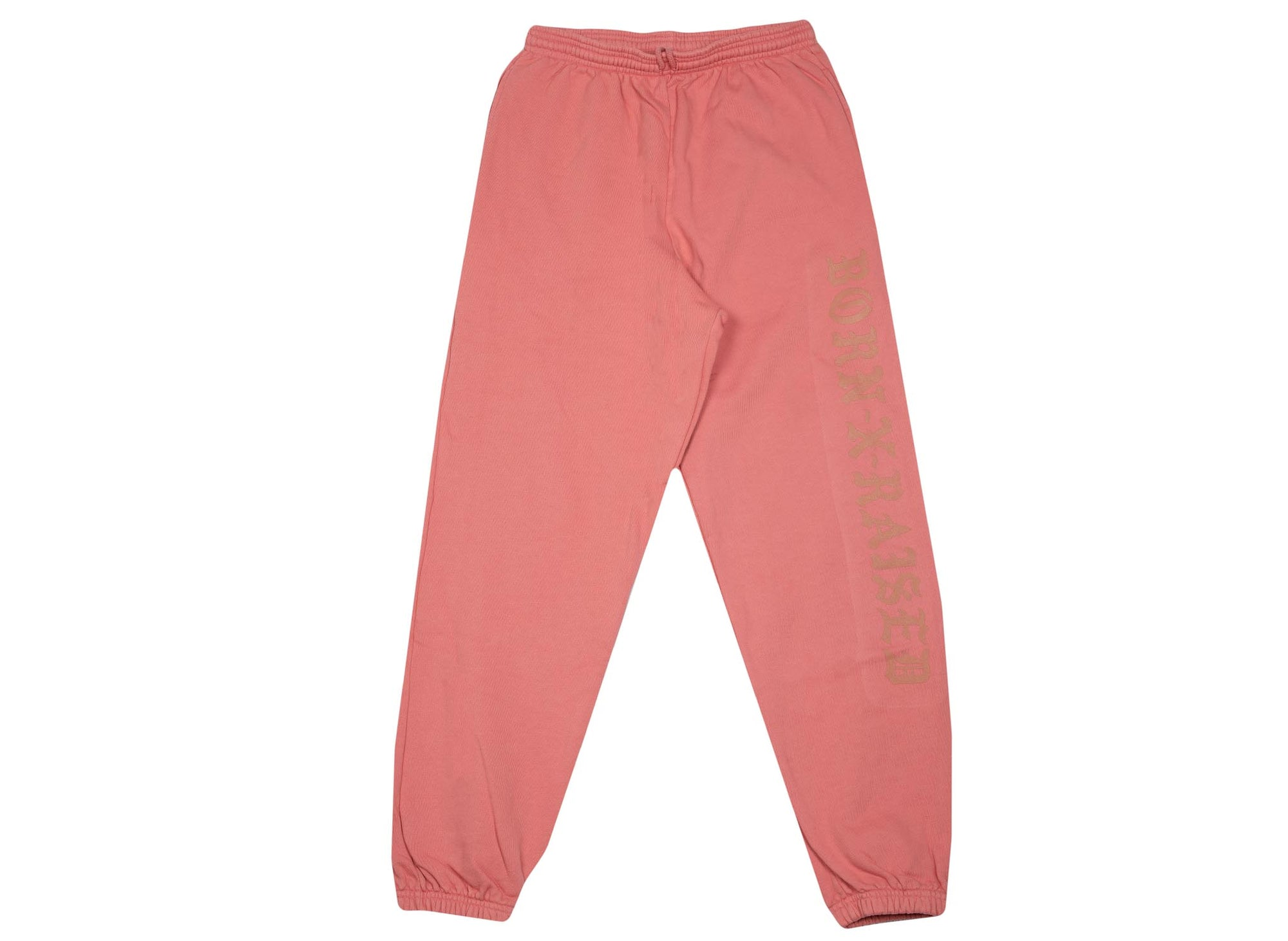BORN x RAISED BXR FLOCKED SWEAT PANTS DUSTY ROSE