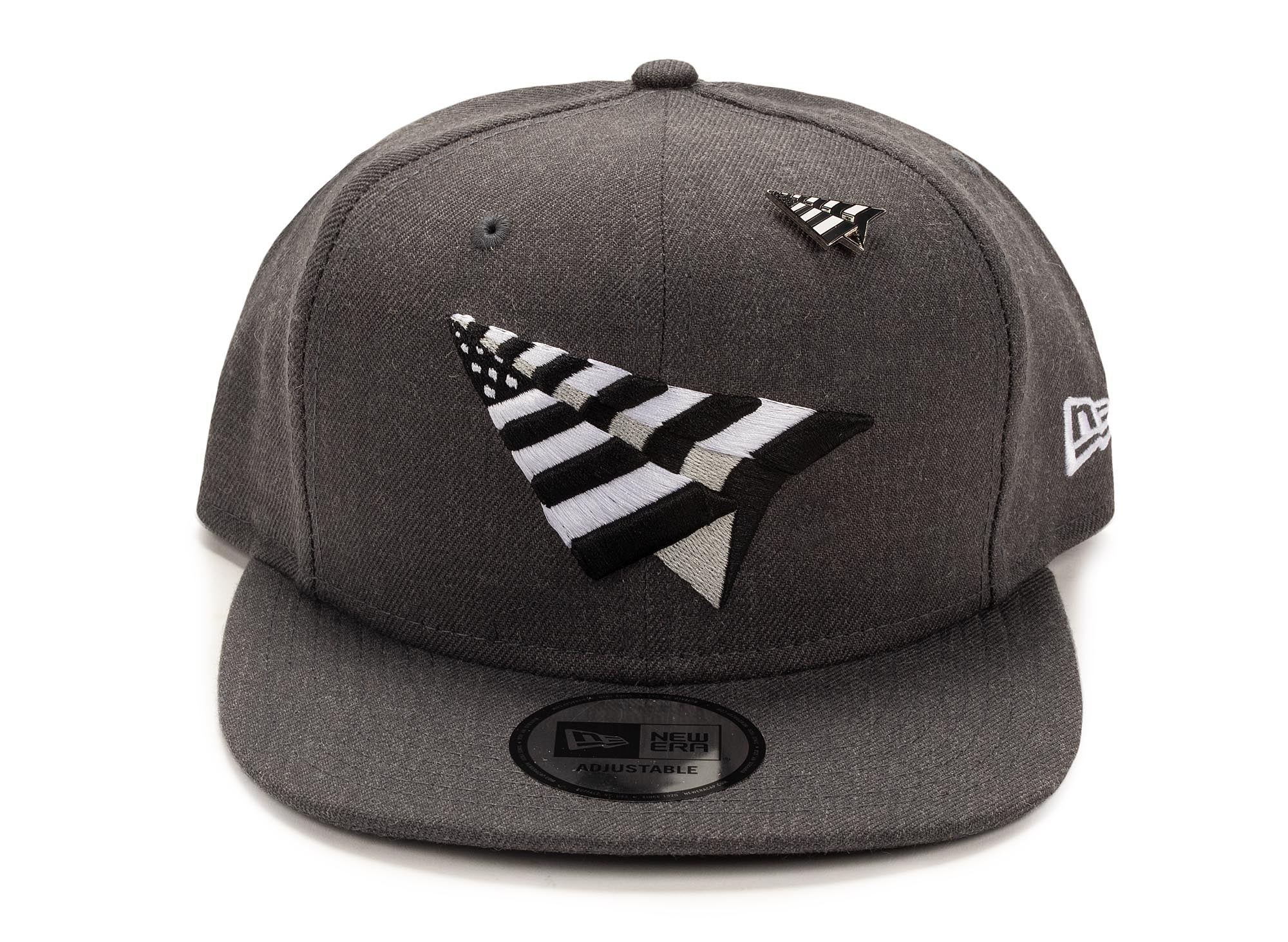 Paper Planes Crown Old School Snapback - Charcoal
