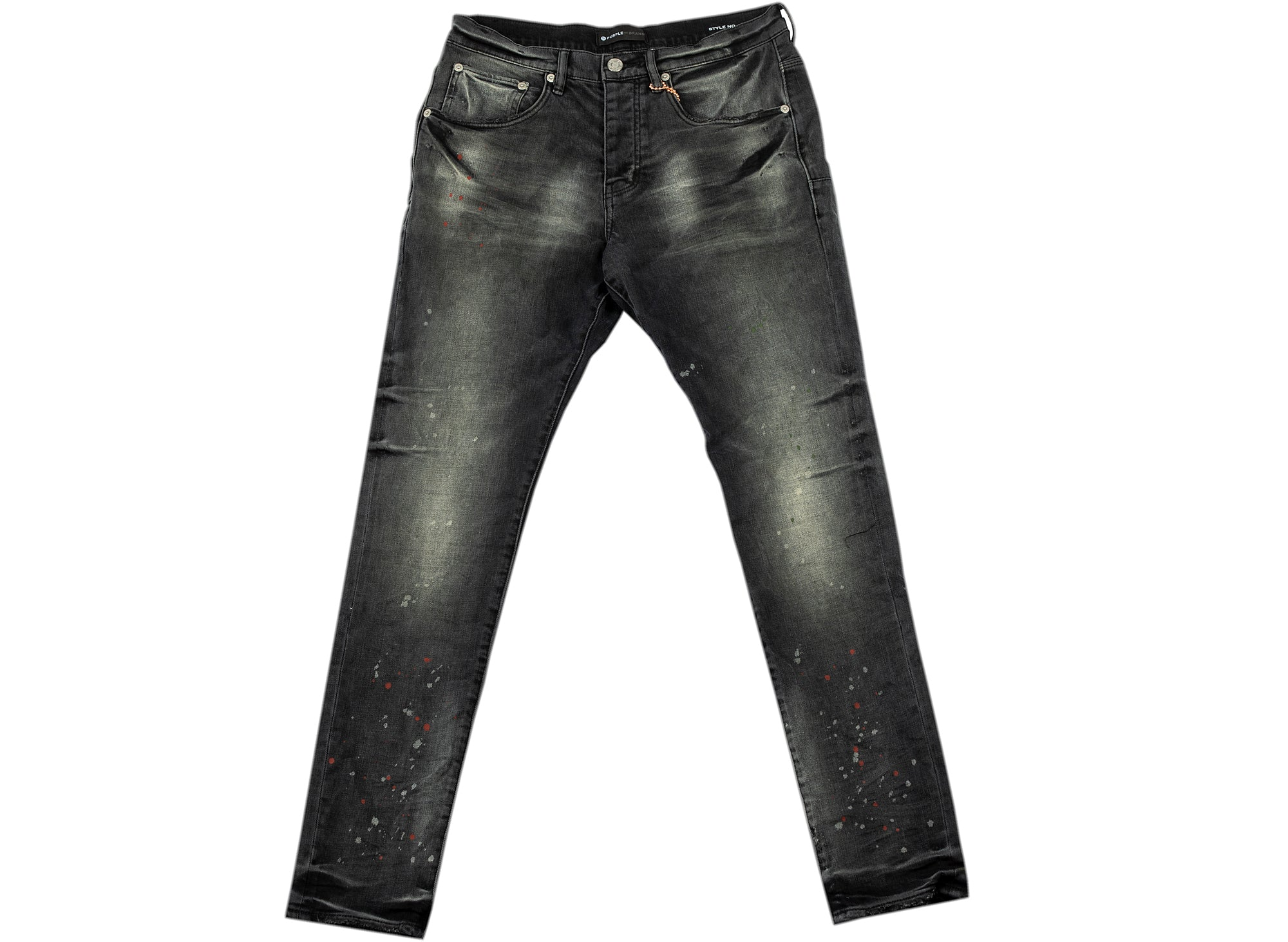 Purple Brand Vintage Spotted Black Wash Jeans xld