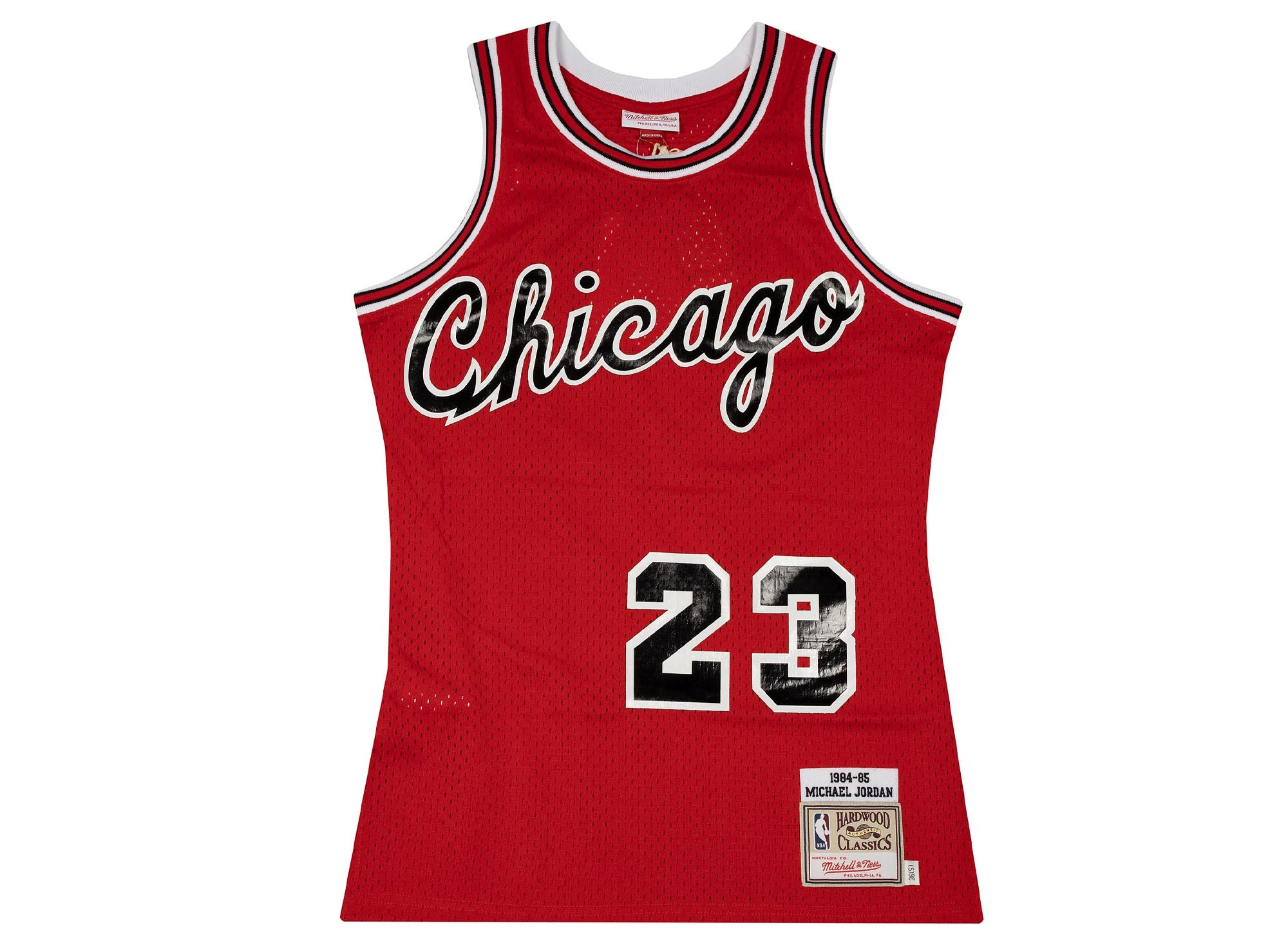 AUTH JERSEY 1984 BULLS MICHAEL JORDAN MITCHELL AND NESS