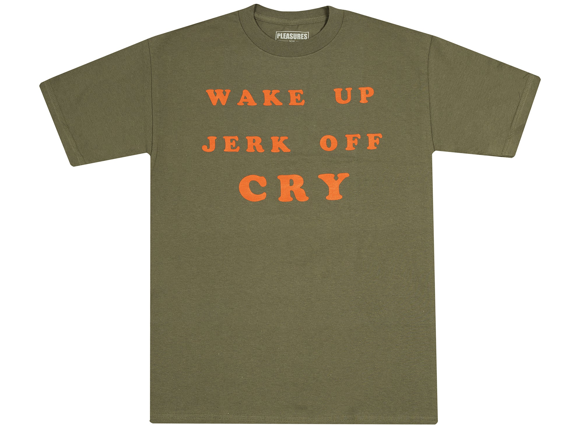 Pleasures Wake Up T-Shirt 'Military Green'