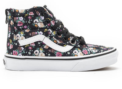 VANS YOUTH  SK8-Hi Zip BUTTERFLY FLORAL