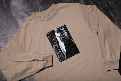 PLEASURES LETTER LS T SHIRT (TAN)