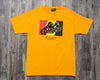 THE HUNDREDS WILDFIRE X T SHIRT (GLD)