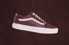 VANS UA OLD SKOOL Moto Leather - Madder Brown