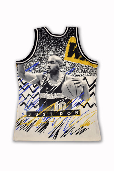 MITCHELL & NESS JUST DON Sublimated Golden State Warrior Jersey
