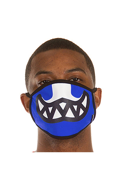 Ice Cream Grin Face Mask in Nautical Blue