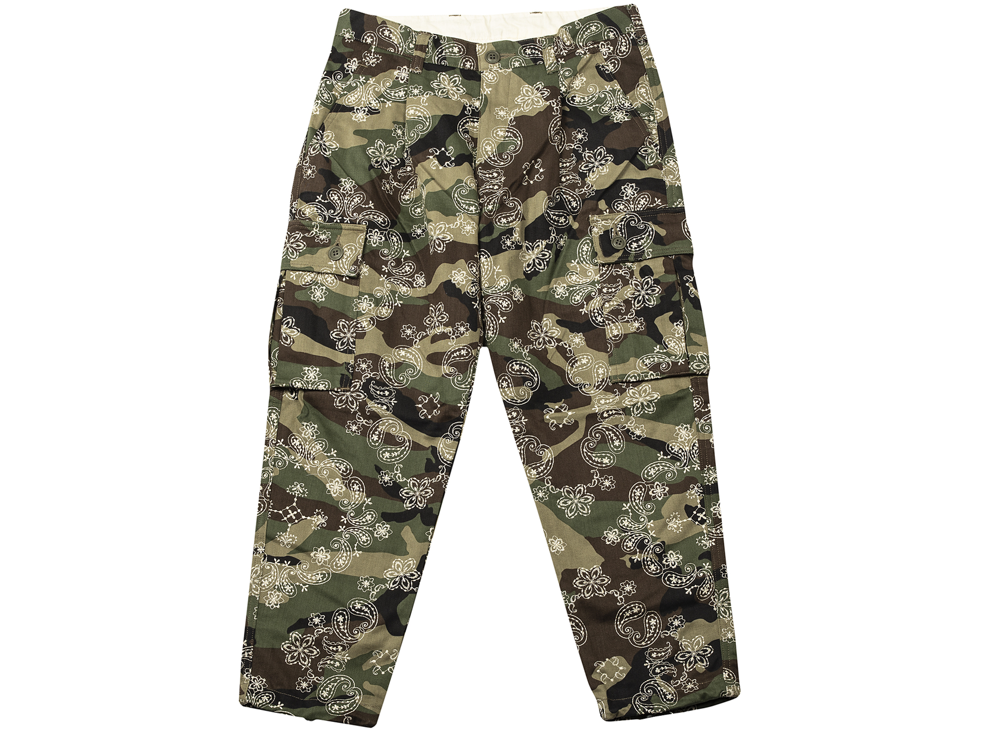 Clot Embroidered Paisley Camo 6 Pocket Pants