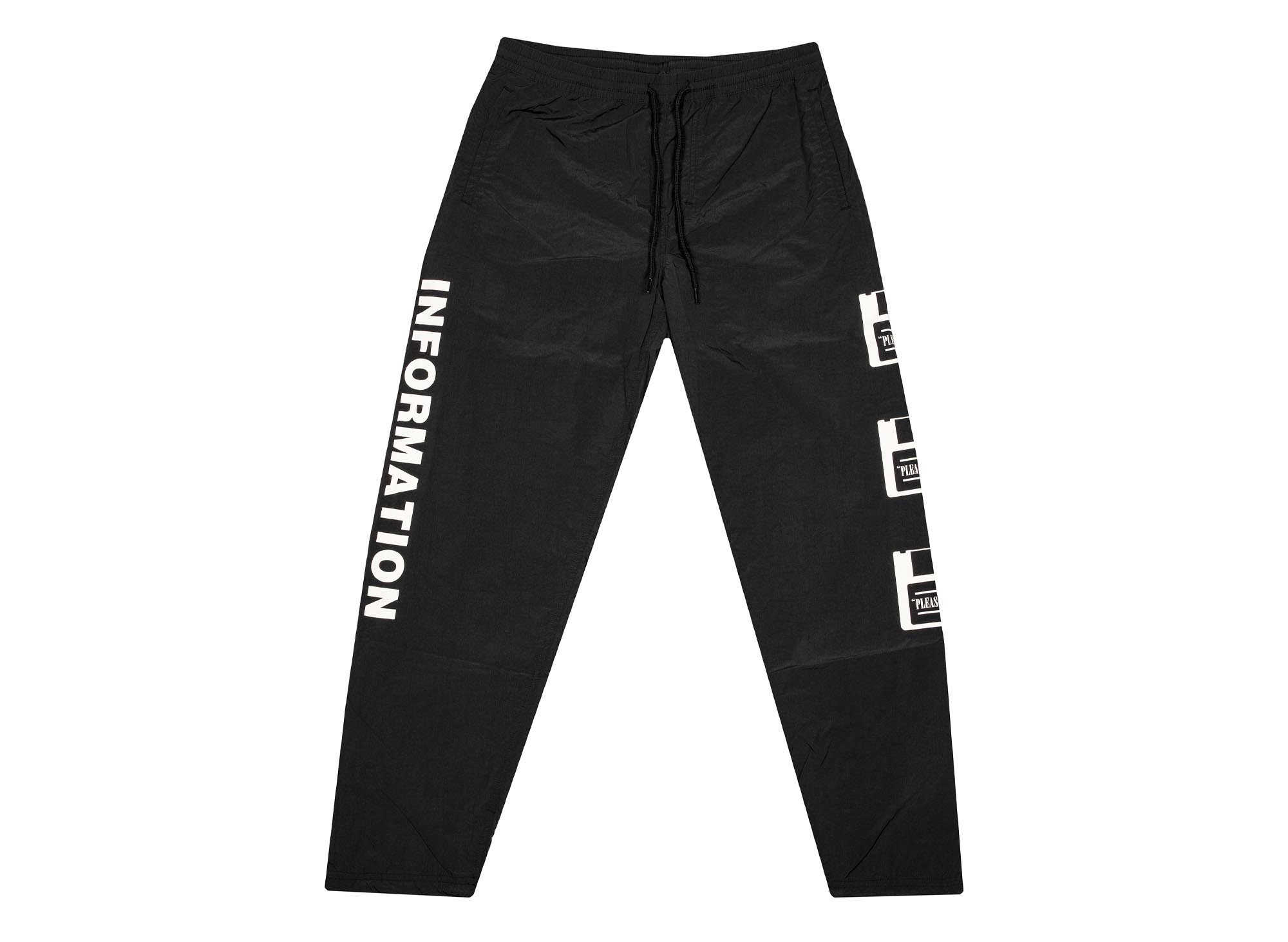 Pleasures Nylon Information Track Pants 'Black'
