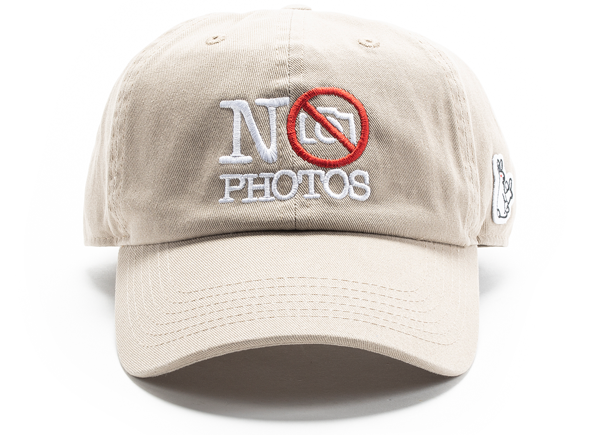 Fucking Rabbits No Photos Six Panel Hat in Beige