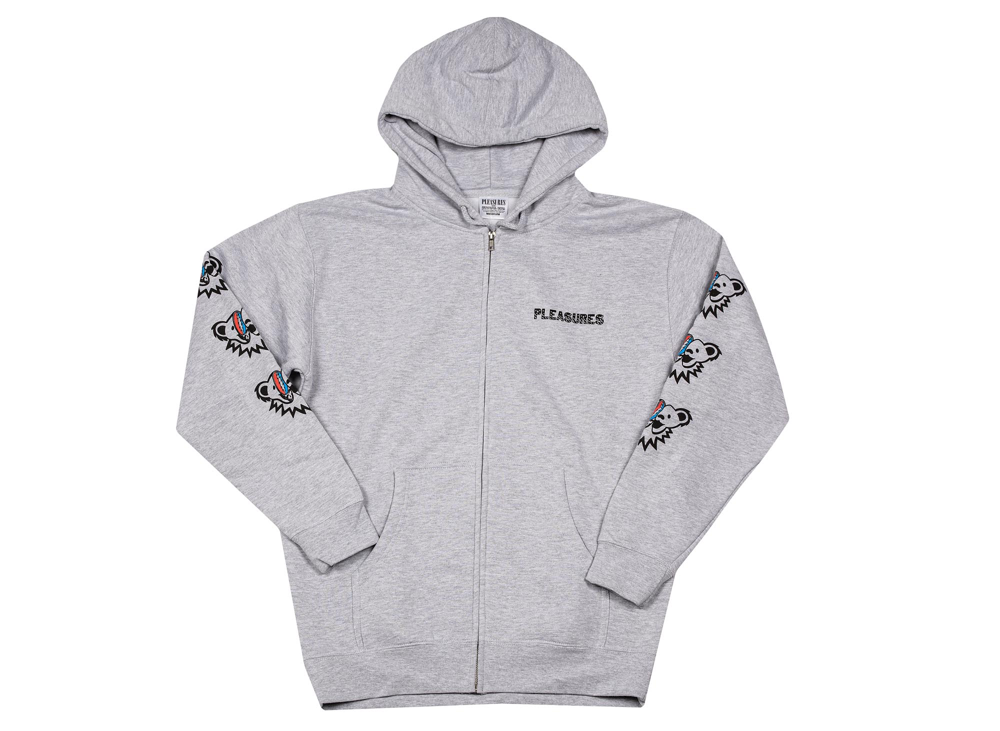 Pleasures Dead Inside Zip Hoody 'Heather Grey'