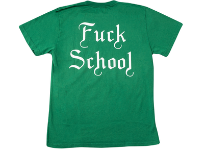 Born x Raised Fuck School Tee in Green xld
