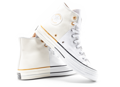 Chuck 70 Hi '1980's Pack' in White XLD