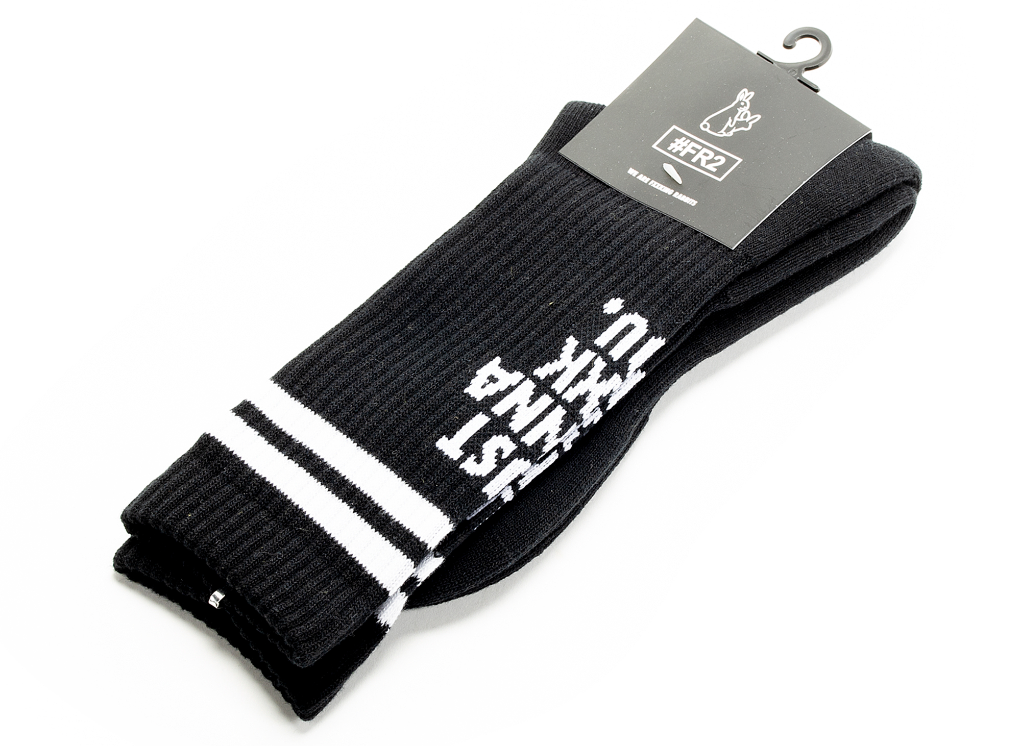 Fucking Rabbits Message Socks in Black