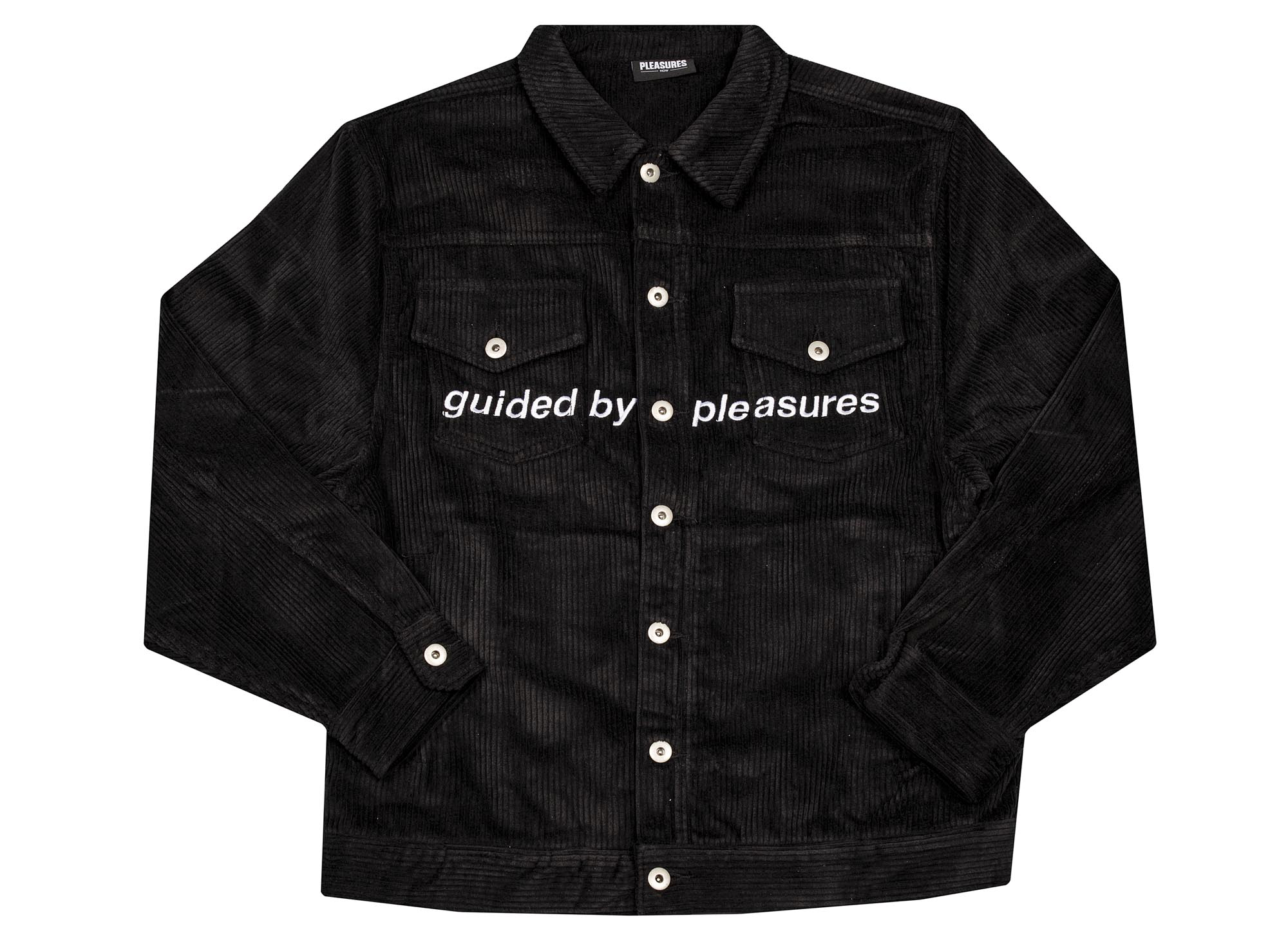 Pleasures Guided Corduroy Trucker Jacket 'Black'