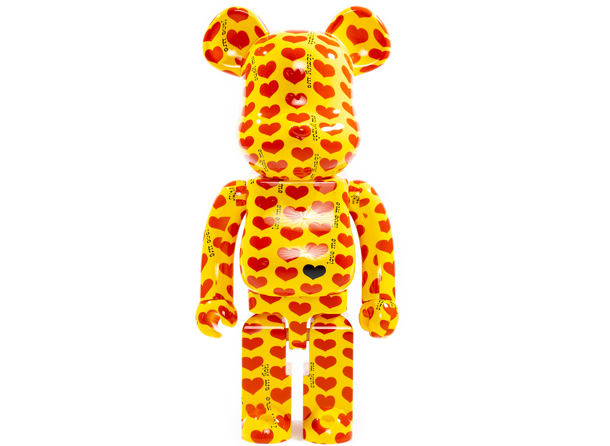 Medicom BearBrick Yellow Heart 1000%
